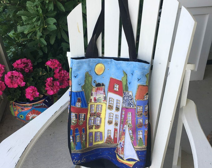 Tote bag Canvas house sailboat