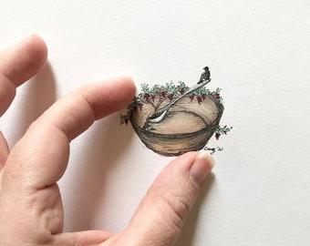 Art Drawing Tutorial from Teacher, How to Draw Nature, Tiny Drawings, Drawing how to video, Drawing Demonstration with tips and instructions