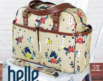 Swoon Patterns: Belle Baby Bag - PDF Diaper Bag Large Crossbody Purse Tote Handbag Sewing Pattern