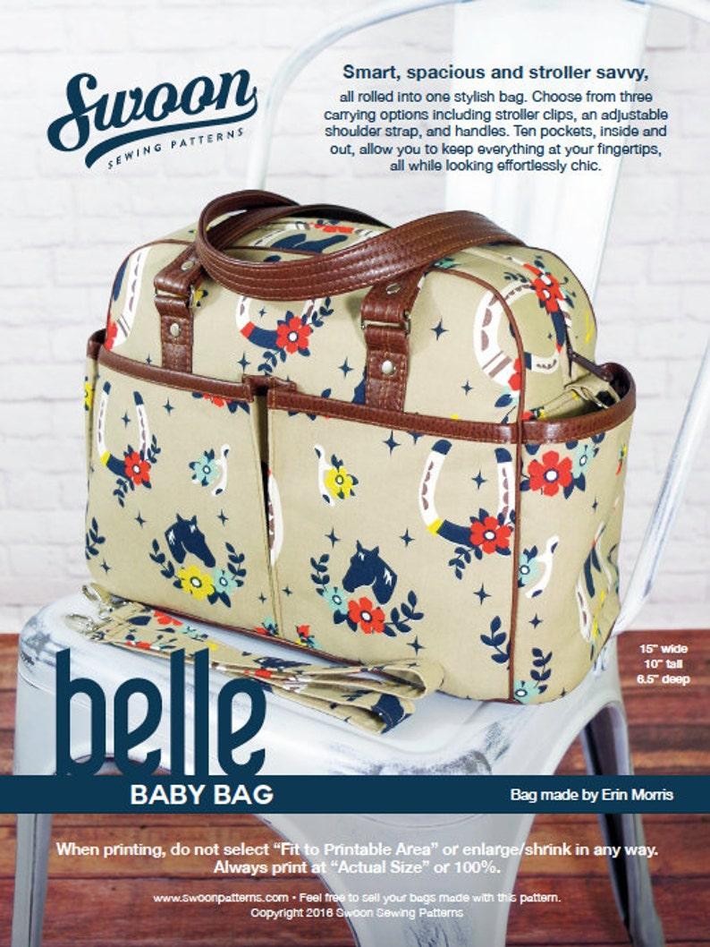 Swoon Patterns: Belle Baby Bag  PDF Diaper Bag Large image 0