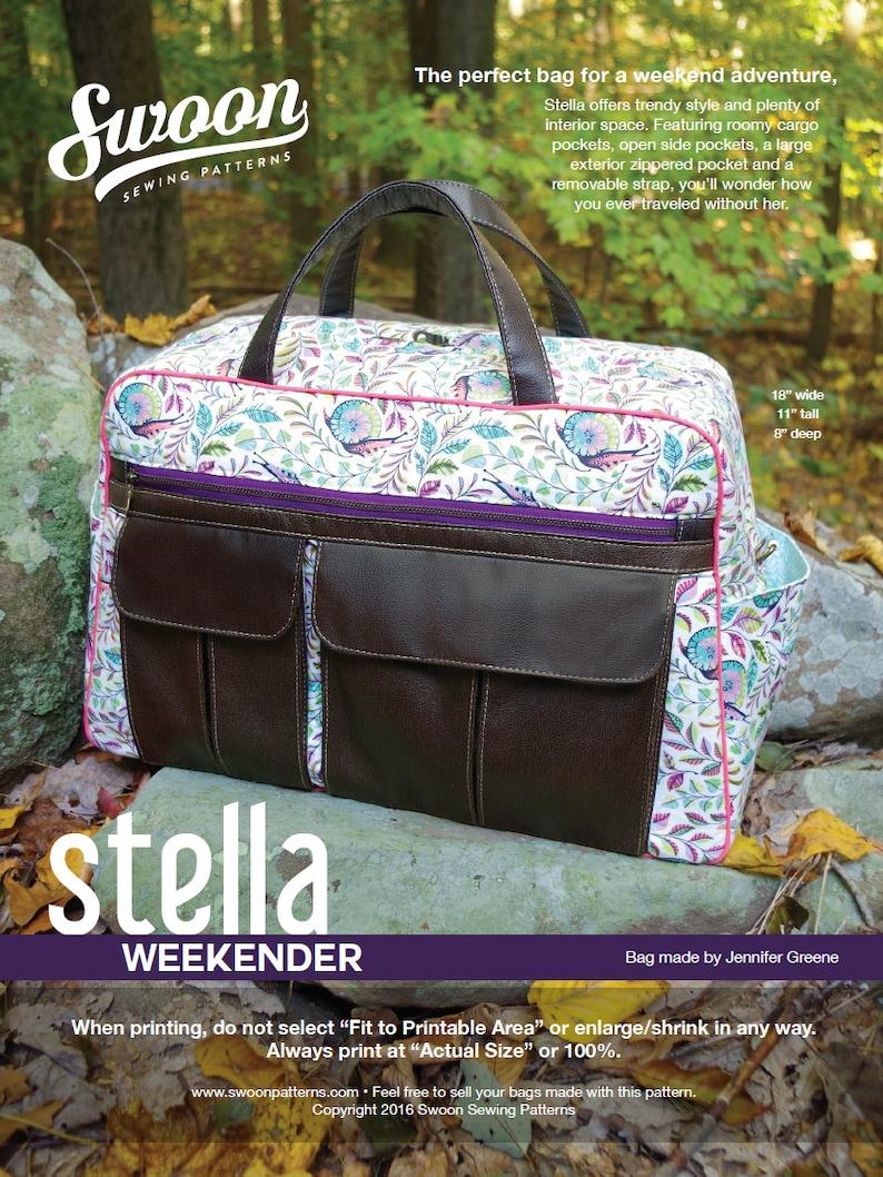 cc2a5b22a735 Swoon Patterns  Stella Weekender Bag PDF Bag Purse Weekender