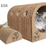 "1 Original Catpod & 1 XL Kitty Speed Bump 18"" Deal- Eco-friendly trendy cardboard cat scratcher pet bed furniture unique great gift pets"