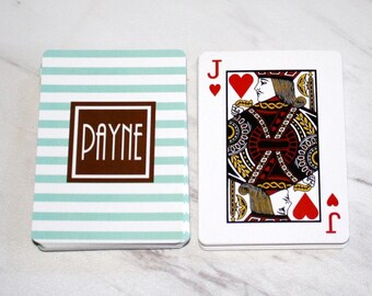 Personalized Playing Cards, Monogrammed Playing Cards, Personalized Cards, Groomsmens Gift, Bridge, Poker, Custom Design