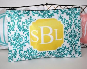 Monogrammed Makeup Bag, Cosmetic Bag, Travel Bag, Personalized Bag, Bridesmaid Gift