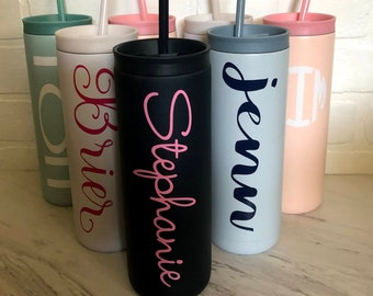 Personalized Stainless Steel Insulated Maker 20 ounce tumbler, Monogram cup, Double Wall, Bridesmaid