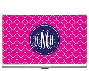 Personalized Business Card Holder, Monogrammed, Monogram,  Boss Lady Gift, Graduation Gift, Custom Design