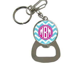Monogrammed Bottle Opener Key Chain