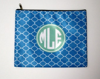 Monogrammed Carryall Pouch