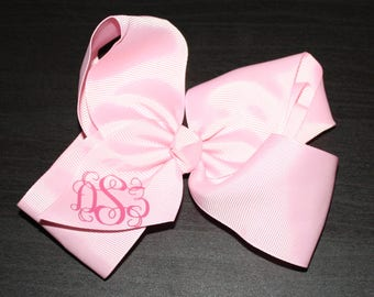 "Personalized 4"" Hairbow on Elastic Headband"