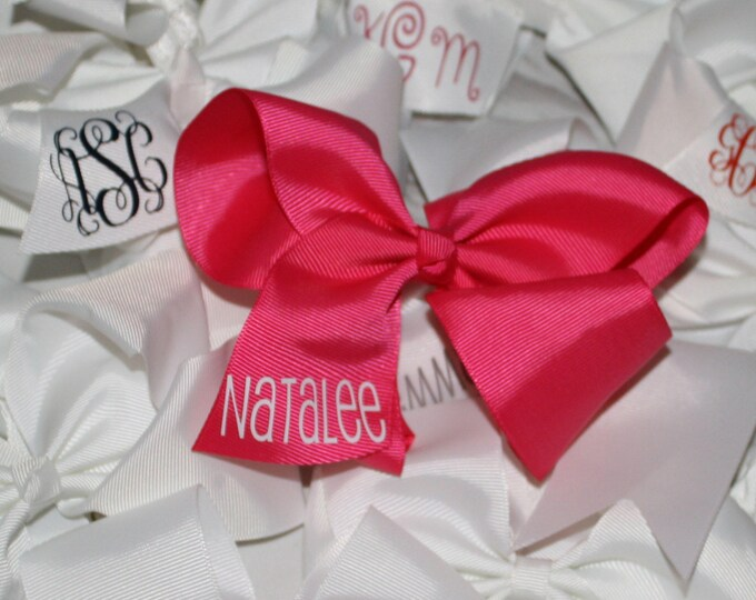 "Personalized 6"" on Clip Hairbow"