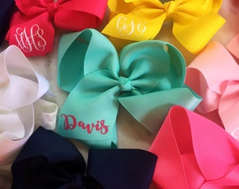 """Personalized 6"""" on Clip Hairbow"""