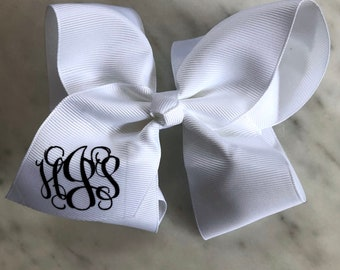 """Monogrammed Bow,  6"""" on Clip, Personalized Bow, Monogrammed"""