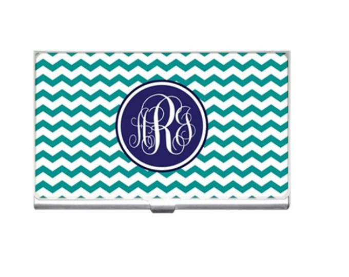 Monogrammed Business Card Holder-Mix and Match Design
