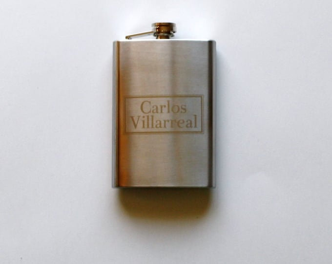 SALE-Engraved Personalized Flask- Mix and Match Designs
