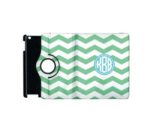 Monogrammed iPad 3/4 360 Booklet Case, Personalized Case, Tablet Case, Protective Case