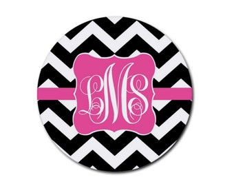 Custom Circle Mousepad, Monogrammed Mouse Pad, Computer Pad, Teacher Gift, Office, Custom Design, Personalized