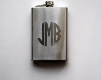 Engraved Personalized Flask