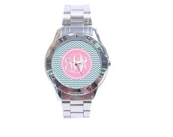 Monogrammed Boyfriend Style Watch