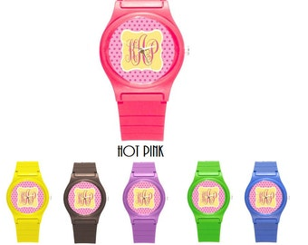 Monogrammed Rubber Petite Watch