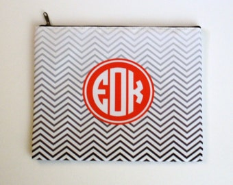 Monogrammed Makeup Bag, Cosmetic Bag, Travel Bag, Personalized Bag, Bridesmaid Gift