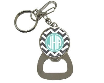 Monogram Bottle Opener Key Chain
