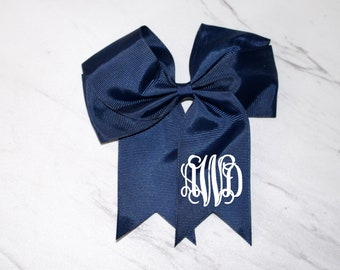 "Personalized 6"" Hairbow with Tails on Clip"