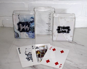 Personalized Playing Cards, Monogrammed Playing Cards, Personalized Cards, Groomsmens Gift, Bridge, Poker