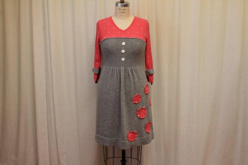 7fe064a5e0c Polka dot sweater dress Romantic women top Eco funky clothing