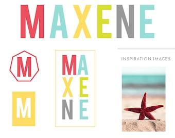 Brand Suite  - Premade Logos, business cards, social templates - Maxene