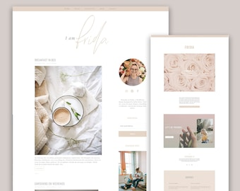 NEW!! Feminine Wordpress Theme for Bloggers - Genesis Child Theme - Responsive Wordpress Themes - Minimal Wordpress Design - Kelly Brito