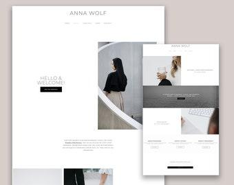 NEW Anna Wordpress Theme - Coaches, Podcasters, Bloggers, Influencers, Entrepreneurs, Genesis Child Theme - Minimal Website Design