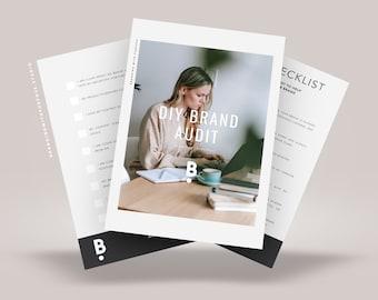 Brand Audit Checklist, diy brand audit for personal branding, coaching workbook, business checklist