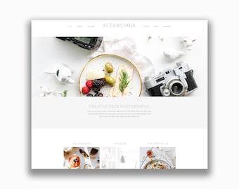 Wordpress theme, photographer website design, food blogger website, easy to edit wordpress theme