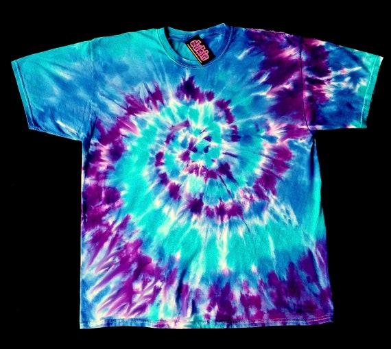 39ecdf63b9601a Purple Spiral Tie Dye Shirt