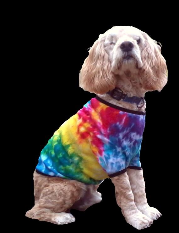 da61bf951e0 Rainbow Spiral Tie Dye Dog Shirt American Apparel