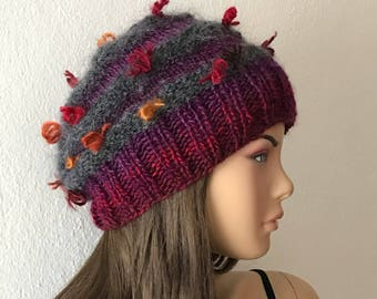 Slouchy Hat, Woman Knit Hat, Slouchy Beanie, Woman Winter Hat, Beanie Hat, Knit Beanie, Boho Hat, Knit Hat Woman, Winter Hat for Women