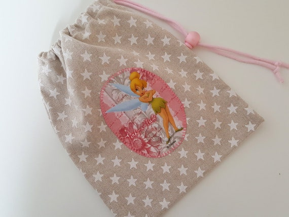 Handmade Knikkerzak With Tinkerbell Disney Stars With Pink Etsy