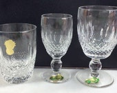 Vintage Waterford Crystal wine glass Colleen claret sherry port replacement genuine old Waterford Made in Ireland signed and labels 04190300