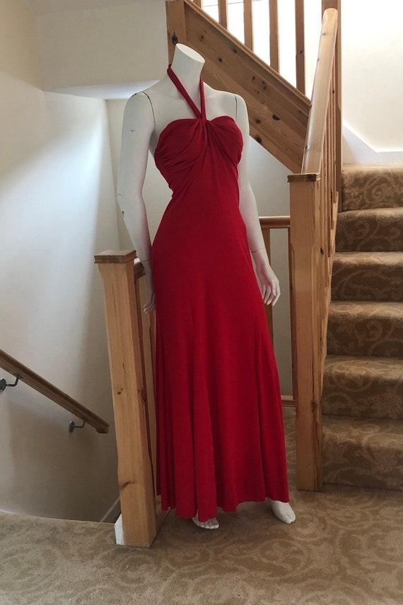 Wounded BirdNeeds TLC Vintage Lipstick Red Gauzy Sleeveless Dress