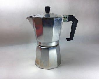 Vintage coffee pot espresso maker stove top chic Italian moka percolator coffee pot Bialetti style espresso expresso maker Italy  02180400
