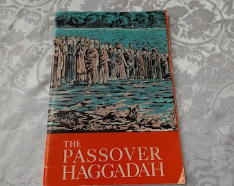 "Vintage Passover Haggadah  book of 1965. Illustrated. Size: 9""H  x 6 1/8"" English Hebrew. New old stock  Abraham Regelson.  Zalman  Kleinmam"