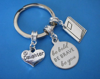 Off to University Granddaughter Keyring Graduation Gift Off to College Gift