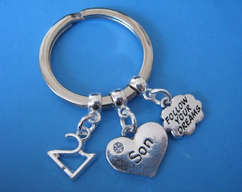Son 21st Birthday Gift Follow Your Dreams Keyring Jewellery Keychain