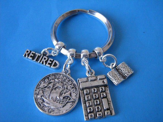 Retired Accountant Keyring Retirement Gifts Accounts ...