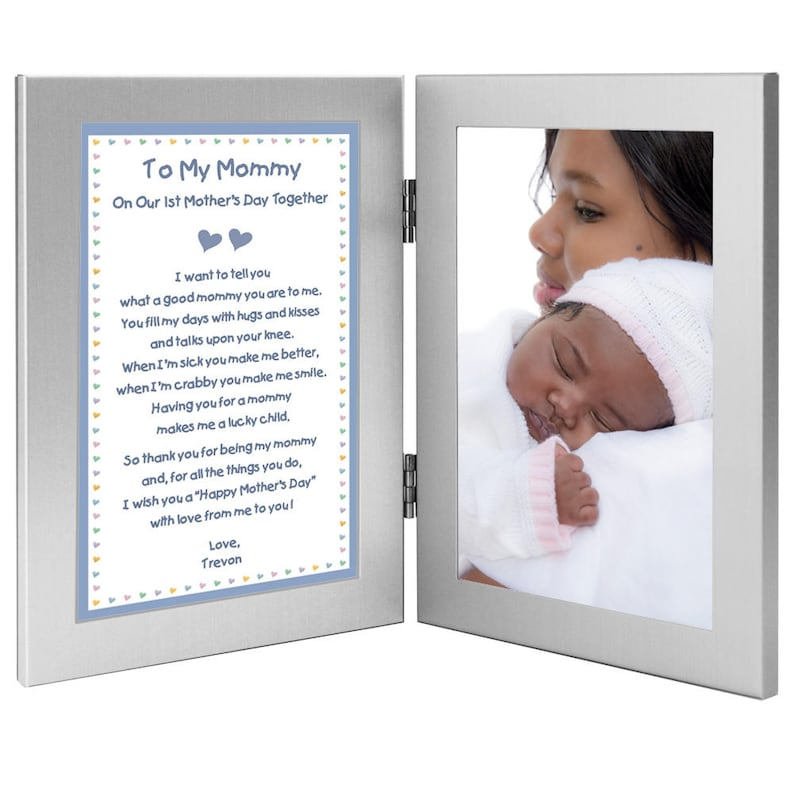 On Our 1st Mother's Day Together Poem from Son to Mom - New Baby Boy to  Mommy Gift - Add Photo (70-010)