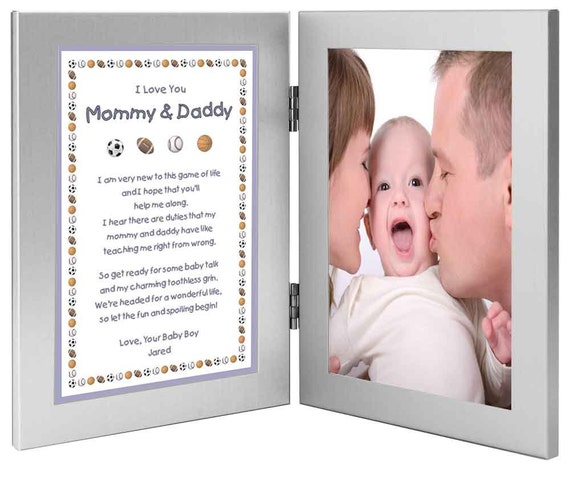 New Parents Personalized New Baby Gift Mommy Daddy Gift Etsy