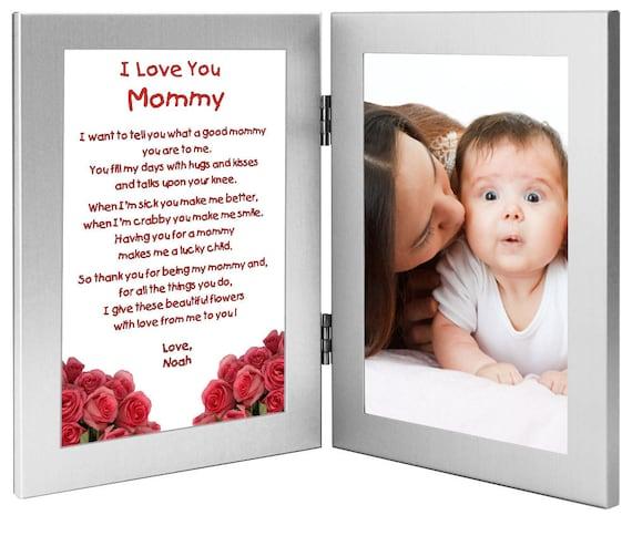 Maman Cadeau Doux Poème De Lenfant Anniversaire Ou Cadeau De Noël Avec Doux Poème En Double Cadre Ajouter Une Photo 70 598