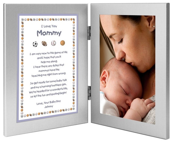 New Mom Personalized Newborn Gift Mommy Gift From Son Baby Boy New Birth Or Christmas Gift Frame With Poem Add Photo 70 004