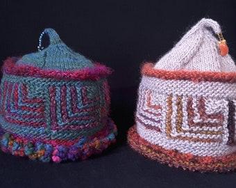 Mitered Hat w/Tassel Bead