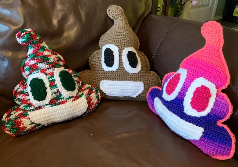 Poopmoji Pillow Crochet Pattern